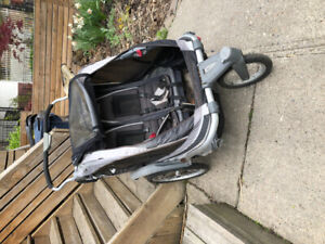 Chariot double stroller well used $50