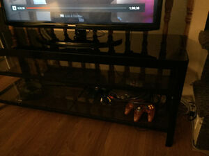 Glass top tv stand