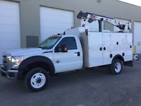 2012 Ford F550 4X4 Mechanic Truck (Low Km. 23,565)