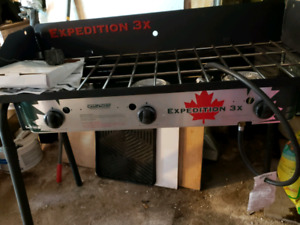 Grill pour camping 3 bruleurs