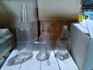 Assorted Maple Syrup Glass Bottles