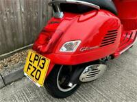 2013 Piaggio Vespa GTS 300 Super 278cc + IMMACULATE + GARAGED + ONLY 96 MILES