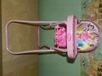 Folding Doll High Chair and Stroller
