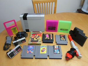 NES System W/Accessories And Games Lot