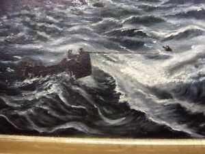 Antique oil painting, depicting a shipwreck Kingston Kingston Area image 3