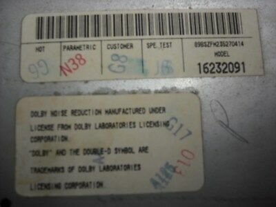 Audio Equipment Radio Opt UL0 Fits 96-01 LUMINA CAR 14129