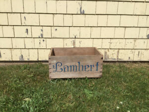 Vintage Collectible Lambert Marketing Co. Wooden Crate