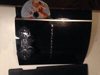 Fat PS3 piano black, 80gb, with gta 5