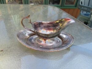 GRAVY BOAT / SUGAR BOWL - SILVER PLATE - REDUCED!!!
