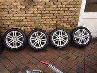 "Vauxhall Sri Sxi 17""Alloy Wheels 5 Stud With Tyres Astra Vectra Corsa"