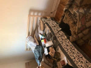 Barely used ikea queen mattress and frame