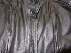 Leather jacket is size 56    recycledgear.ca