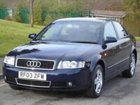 AUDI A4 1.9TDI 130 6sp 2002 SE,45 MPG,LONG MOT,EXCELLENT DRIVE,READY TO GO