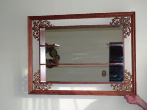 Vintage Shadowbox Mirror with shelves
