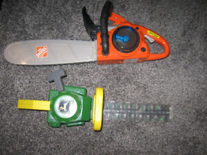 Home depot and John deere toy chainsaws
