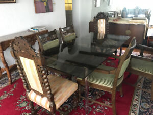 Antiques from estate: exquisite dining chairs