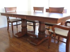 Canadel Solid Birch Dining Suite Transitional Style