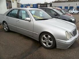 2002 Mercedes-Benz E320 3.2 CDI Avantgarde Diesel Auto 120K Silver