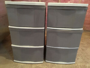 Plastic Cabinets set of 2
