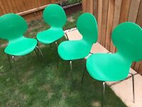 Green chairs X4