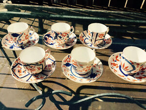 Six sets of old small teacups and saucers Kingston Kingston Area image 2