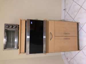 Microwave / toaster oven cart