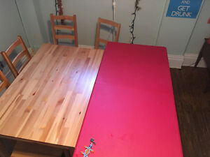 Wood Dining Set and plastic table for sale