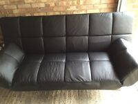 Leather sofa/bed