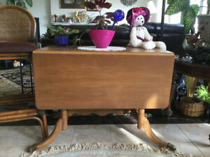 Solid Wood Vintage Antique Foldable Table 4 Kitchen or Dining