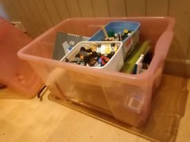 LEGO BIG Box of LEGOS with manuals