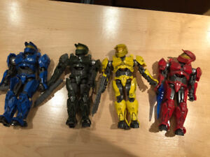 4 personnages magnetrique Halo Master Chief