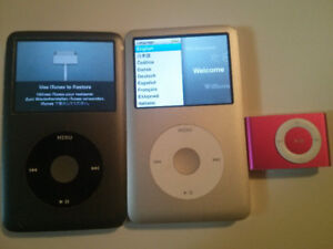 Non-Working iPod Classics and Shuffle