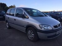 2005 STUNNING ZAFIRA 7 SEATER!!!ONE YEAR MOT!!!VERY CLEAN INSIDE
