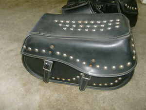 USED STUDDED SADDLEBAGS