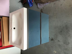Washroom wall mount cabinet and sink.... new never used...