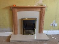 Gas fire plus surround