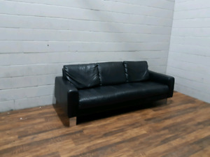Free Delivery: Italian Leather Sofa