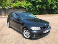 2007 BMW 1 SERIES 118D SE MANUAL 5 DOOR BLACK BARGAIN