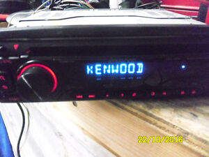 kenwood  cd and aux output for cell phone music