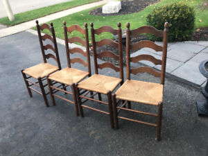 Wood Chairs and cabnet