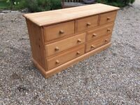 7 DRAW SOLID PINE CHEST