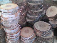 Rondelles de bois 2$ chaque pour 20 et +