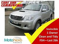 2014 64 TOYOTA HI-LUX INVINCIBLE 4WD 3.0 DIESEL