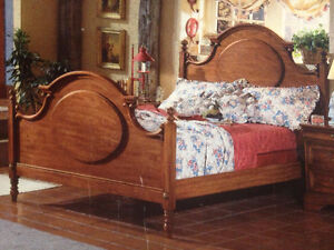 Queen bed frame, Solid wood Henry Link