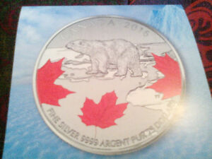 $25 pure silver coin from Canadian Mint..with certificate