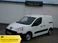 12 PEUGEOT PARTNER 1.6 HDI S L1 850 NO VAT TURBO DIESEL WHITE PANEL VAN NEW MOT