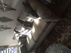 Two sofas set ,two love seats, chair,5 coffee tables for sale