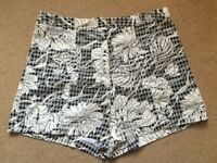 River island high waist shorts size 12