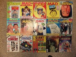Mad Magazine, Cracked, National Lampoon