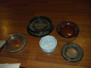 5 OLD ASHTRAYS FOR SALE,,